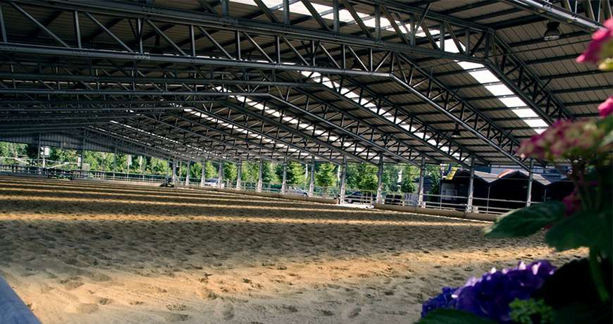 Horse Arena interior steel building safe robust metal structure
