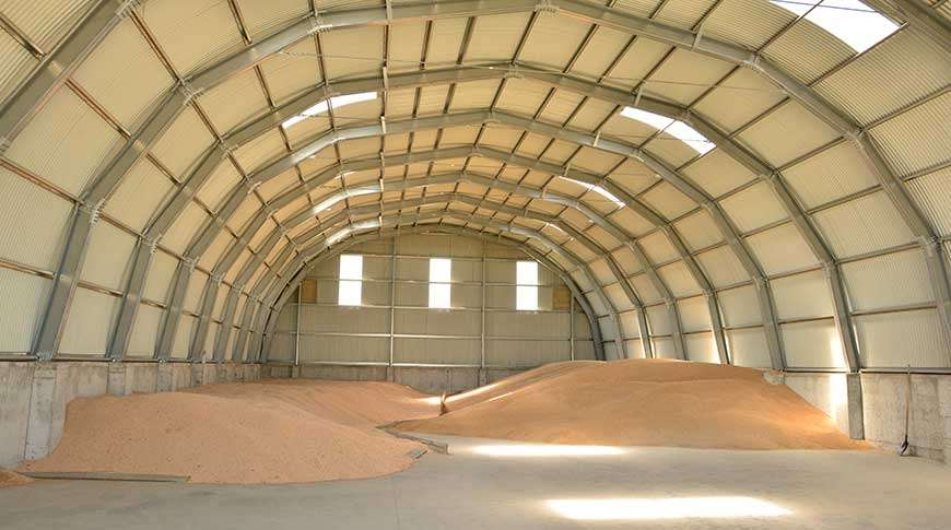 storage building grain warehouse metal steel
