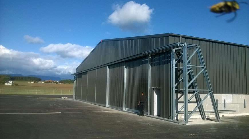 aircraft buildings industrial steel aviation PEB